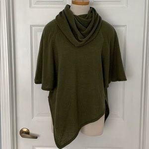Cowl neck asymmetrical sweater- S
